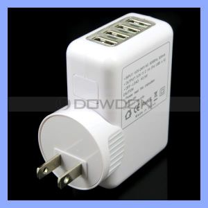 5V 3.1A AC Power Adapter Mobile Universal 4 USB Port Wall Change Us EU UK Head Charger pictures & photos
