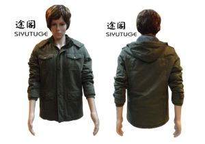 Men Hoody Fashion Cotton Fur Lining Army Military Jacket (SY-1563) pictures & photos