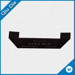 Triangle Folding Black Woven Label for Garment pictures & photos