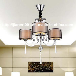 Competitive Iron Chandelier Pendant Lamp with Fabric Shade pictures & photos