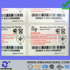 Series Number Bar Code Stickers pictures & photos