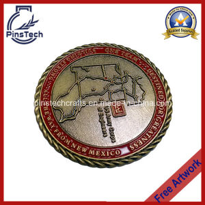 Challenge Coin with 3D Rope Edging pictures & photos