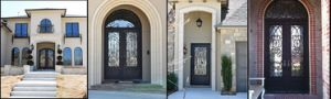 Commercial Wrought Iron Door with Hand-Forged pictures & photos
