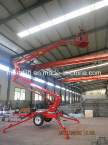10m Mobile Hydraulic Towable Aerial Lift for Sale pictures & photos