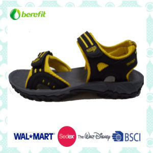 Yellow and Black up Upper, TPR Sole, Men′s Sporty Sandals pictures & photos