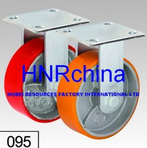 Red PU Wheel Heavy Duty Caster Wheel pictures & photos