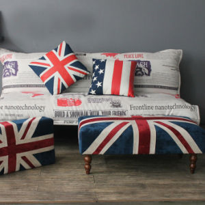 2014 New Design Fabric Union Jack Ottoman pictures & photos