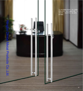 Dimon H Type Stainless Steel Glass Door Handle with Lock Dm-DHL 035 pictures & photos