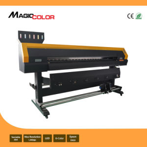 Mcjet 2.6m Eco Solvent Digital Vinyl Printing Machine 2 Printheads of Epson Dx10 pictures & photos