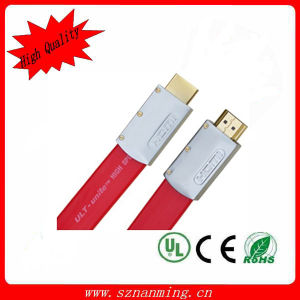 Aluminium Shell Flat HDMI Audio Video Cable pictures & photos