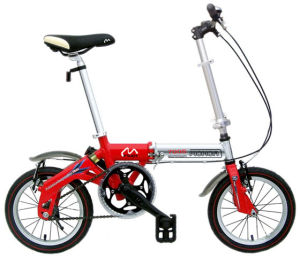 Alloy Aluminum 14inch Wheel Red Folding Bike Foldable Bicycle City E Scooter Folded Ebike pictures & photos