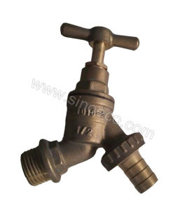 Brass Male Reduced Stop Valve Stop Tap with Butterfly Handle pictures & photos