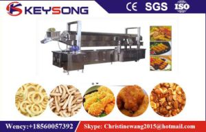 Meat Peanut Seafood Nuts Continous Belt Fryer pictures & photos