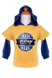 Fashion Boy Hooded T-Shirt Children Clothes