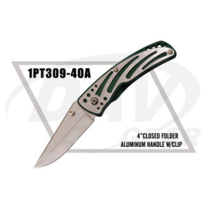 "4""Closed Alum Handle Folding Knife with Steel Blade (1PT309-40A) pictures & photos"