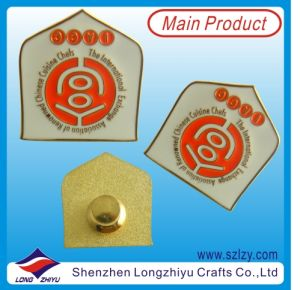 Good Qaulity Metal Badge Pins with Embossed Effect and Gold Palted pictures & photos