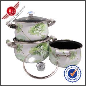 3 PCS Non-Stick Kitchenware Enamel Cookware Set pictures & photos