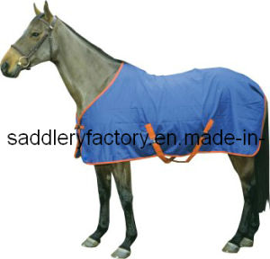 Blue Breathable Summer Cotton Horse Rug (SMR3240) pictures & photos