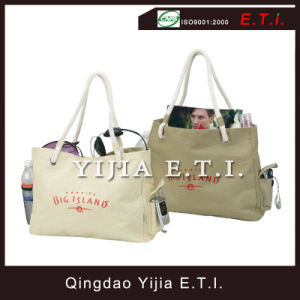 Cotton Canvas Shopping Bag with Rope Handles pictures & photos