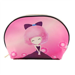 2017 Promotional Fashion Travel Cosmetic Bag with Printing, PU Cosmetic Bag China Supplier pictures & photos