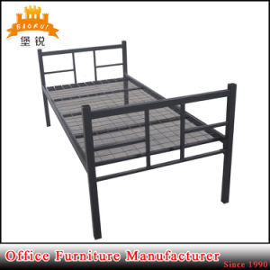 Bedroom Use Cheap Single Comfortable Metal Bed with Low Price pictures & photos