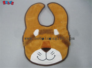 "13""Cheap Baby Stuff Plush Brown Lion Baby Bibs pictures & photos"