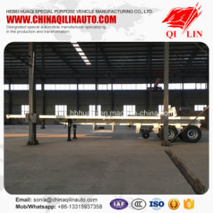 Chinese Famous Brand Qilin 20FT 40FT Flatbed Container Semi Trailer pictures & photos