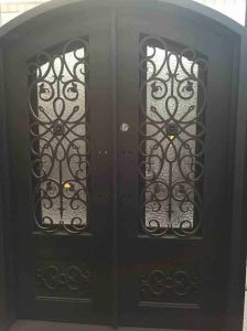 Customized Wrought Iron Entry Door pictures & photos