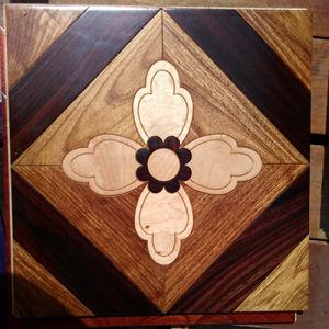 Decoration Material Mosaic Wood Flooring Art Parquet Engineered Flooring pictures & photos