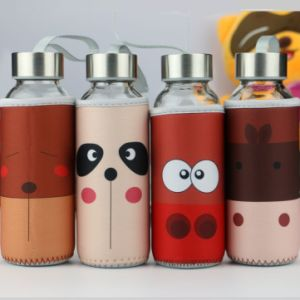 Silicone Glass Water Bottle, Traveling Water Bottle Dn-162 pictures & photos