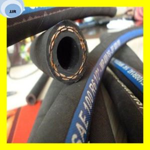 One High Tensile Fibre Braided Hydraulic Hose SAE 100 R6 pictures & photos