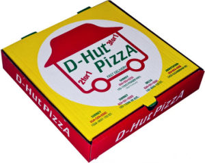 Regular Size Pizza Box with Custom Patterns pictures & photos