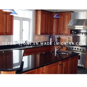 Cheap Price Black Stone Granite Kitchen Countertop pictures & photos