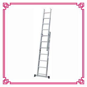 2 Section Aluminum Extension Ladder /Domestic Ladder pictures & photos