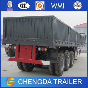 Triple Axles 50tons Fence High Bed Cargo Side Wall Semi Trailer for Sale pictures & photos