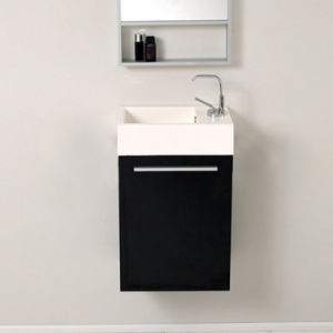 PVC Wood Lifting up Small Bathroom Vanity for Hotel Furniture pictures & photos