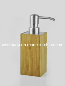 Square Bamboo Bath Set with Metal Parts (WBB0303A) pictures & photos