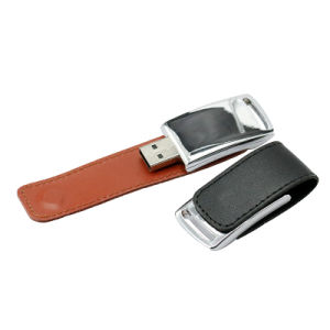 Leather USB Flash Drive 64GB 32GB 16GB 8GB 4GB Flash Memory pictures & photos