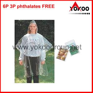 Transparent Rain Poncho, Raincoat for Promotion (YB-205)