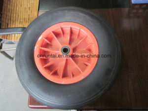 Good Quality Hot Sell Black Color Plastic Rim PU Form Wheel (4.00-8) pictures & photos