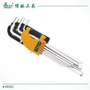 Bright Chrome 9 PCS High Quality Hex Key Wrench pictures & photos