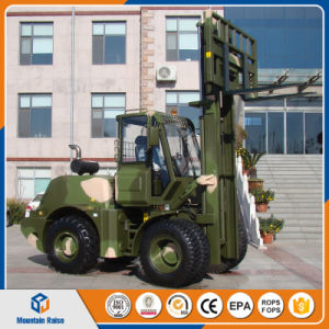 Chinese Heavy Duty 5ton All Terrain Forklift pictures & photos