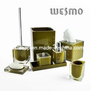 Transparent Polyresin Bathroom Set (WBP0202C) pictures & photos