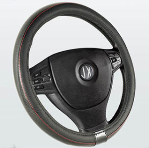 PVC with PU Steering Wheel Cover (BT7144) pictures & photos
