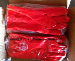 PVC Coated Gloves 1403 pictures & photos