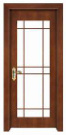 Simple Classic Design with Glass Window Solid Wooden Door pictures & photos