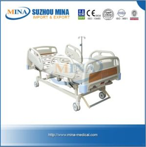 Luxurious Hospital Manual Ward Bed with Double Revolving Levers (MINA-MB104-A)