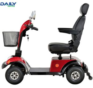 Ce Handicap 4 Wheels Electric Mobility Scooter with Handle Brake and Electric Brake pictures & photos