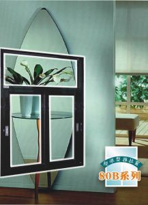 Powdercoat Colorful Aluminum Sliding Glass Window with Fly Screen Mosqutio Net pictures & photos