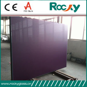Rocky Factory Produce 3mm 4mm 5mm 6mm 8mm 10mm Acid Etch Back Painted Glass Acid Etch Glass pictures & photos